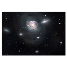 Spiral galaxy NGC 4911 located deep within the Com