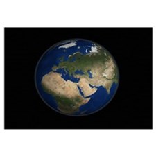 Full Earth view showing Africa, Europe, the Middle