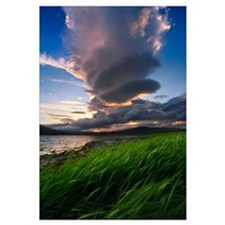A giant stacked lenticular cloud over Tjeldsundet,
