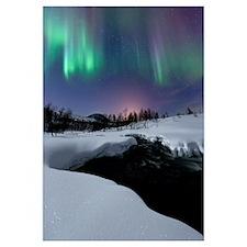 Aurora Borealis over Blafjellelva RIver in Troms C
