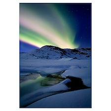 Aurora Borealis over Mikkelfjellet Mountain in Tro
