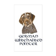 German Wirehaired Pointer Rectangle Decal