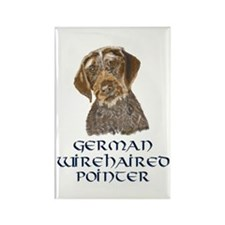 German Wirehaired Pointer Rectangle Magnet (100 pa