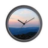 Blue Ridge Mountain Sunset - Wall Clock