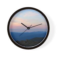 Blue Ridge Mountain Sunset - Wall Clock