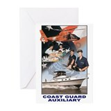Coast guard auxiliary Greeting Cards (10 Pack)