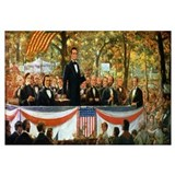 Abraham Lincoln and Stephen A. Douglas debating at