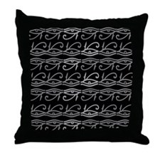 Eye of Ra Monochrome Throw Pillow