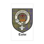 Taylor Clan Crest Tartan Rectangle Sticker