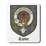 Taylor Clan Crest Tartan Mousepad
