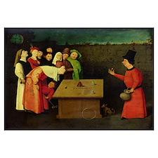 The Conjuror (oil on panel) (pre-restoration)