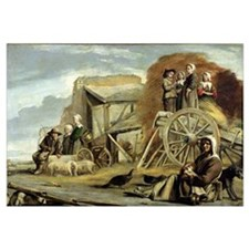 The Haycart, or Return from Haymaking, 1641 (oil o