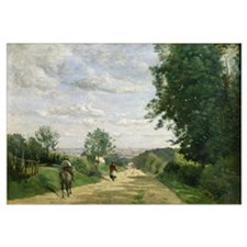 The Road to Sevres, 1858-59 (oil on canvas) (oil o