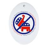 Ban GOP Sex Oval Ornament