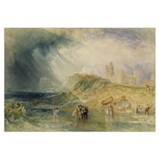 Holy Island, Northumberland, c.1820 (oil on canvas