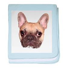 Fawn Black Mask French Bulldog baby blanket