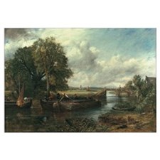 View of the Stour near Dedham, 1822 (oil on canvas