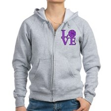 Basketball LOVE Zip Hoodie (both sides)