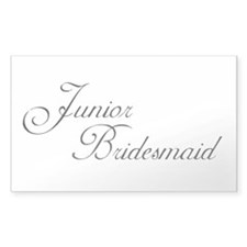 Jr. Bridesmaid's Rectangle Decal
