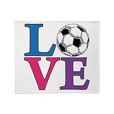 Soccer LOVE Throw Blanket