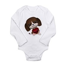 The Luv Puppy Long Sleeve Infant Bodysuit