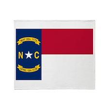 North Carolina State Flag Throw Blanket