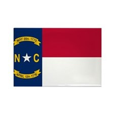 North Carolina State Flag Rectangle Magnet