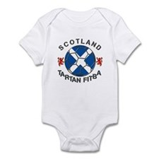Scotland Tartan Fitba saltire Infant Bodysuit