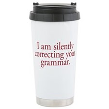 Grammar Snob Ceramic Travel Mug