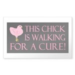 This Chick is Walking For a C Sticker (Rectangle 1