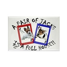 "Jack Russell ""Full House"" Rectangle Magnet"