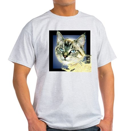 Blue Eyed Kitten Ash Grey T-Shirt