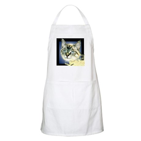 Blue Eyed Kitten BBQ Apron