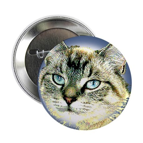"Blue Eyed Kitten 2.25"" Button (100 pack)"