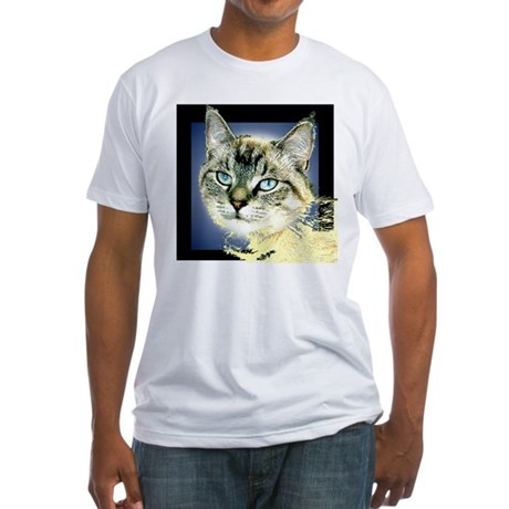 Blue Eyed Kitten Fitted T-Shirt