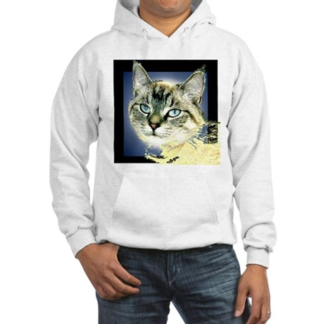 Blue Eyed Kitten Hooded Sweatshirt