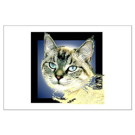 Blue Eyed Kitten Large Poster