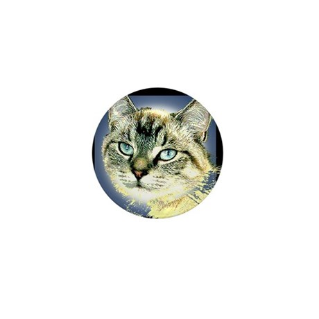 Blue Eyed Kitten Mini Button (10 pack)