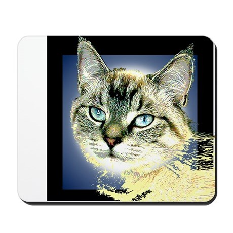 Blue Eyed Kitten Mousepad
