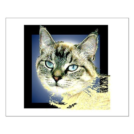 Blue Eyed Kitten Small Poster