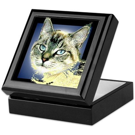 Blue Eyed Kitten Keepsake Box