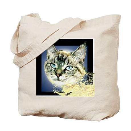Blue Eyed Kitten Tote Bag