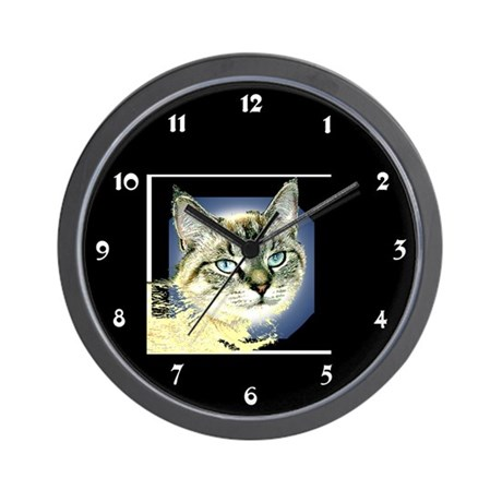Blue Eyed Kitten Wall Clock