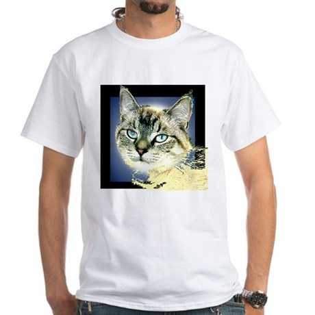 Blue Eyed Kitten White T-Shirt