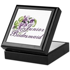 Floral Junior Bridesmaid Keepsake Box