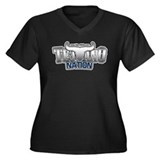 Tejano Nation Women's Plus Size V-Neck Dark T-Shir