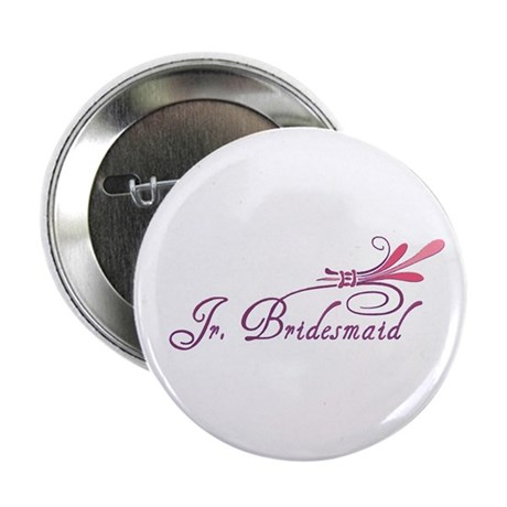 Pink/Purple Deco Jr. Bridesmaid Button