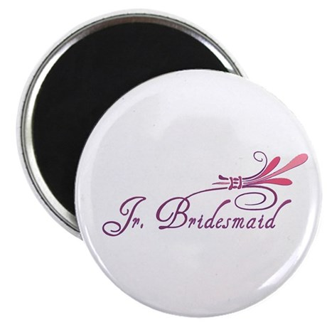 Pink/Purple Deco Jr. Bridesmaid Magnet