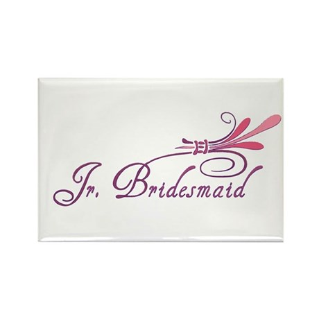 Pink/Purple Deco Jr. Bridesmaid Rectangle Magnet