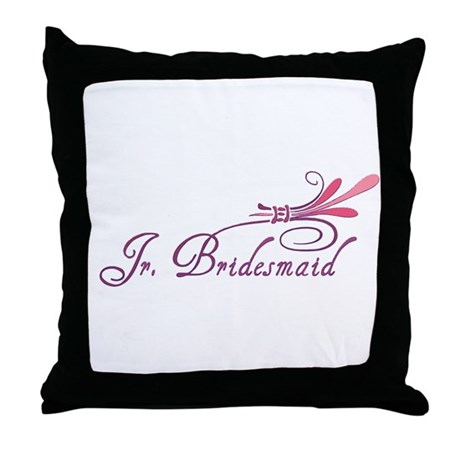 Pink/Purple Deco Jr. Bridesmaid Throw Pillow